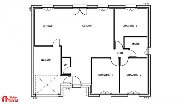 Mod le louisiane maison traditionnelle construire de for Modele maison vesta