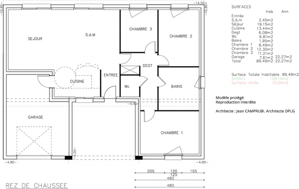 Cotim type f5 catalogue constructeur maison neuve of plan for Catalogue plan maison