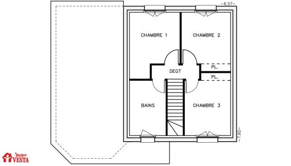 Mod le arizona maison traditionnelle construire de for Modele maison vesta