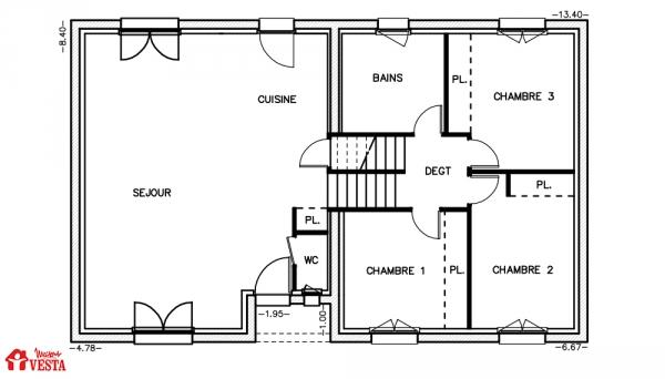 Mod le margarita maison traditionnelle construire de for Modele maison vesta