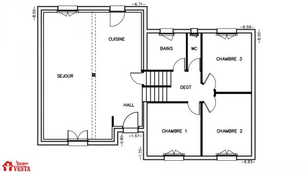 Mod le michigan maison traditionnelle construire de for Modele maison vesta