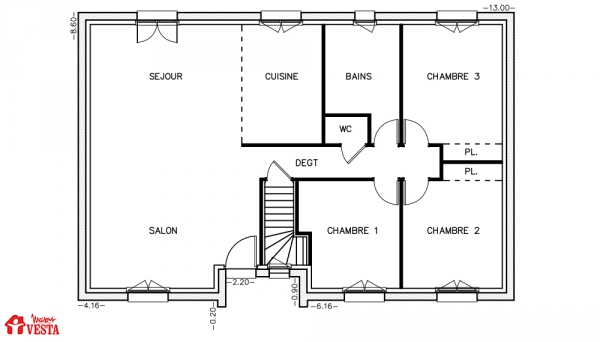 Mod le havana maison traditionnelle construire de type for Modele maison vesta