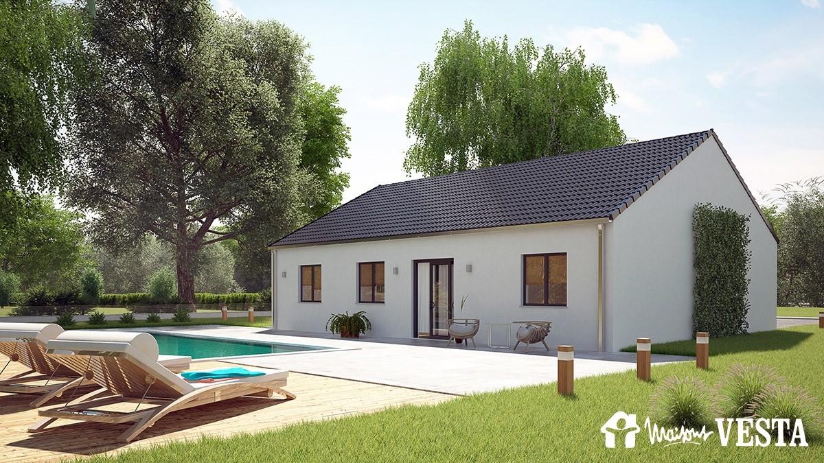 modle louisiane with modele maison a construire. Black Bedroom Furniture Sets. Home Design Ideas