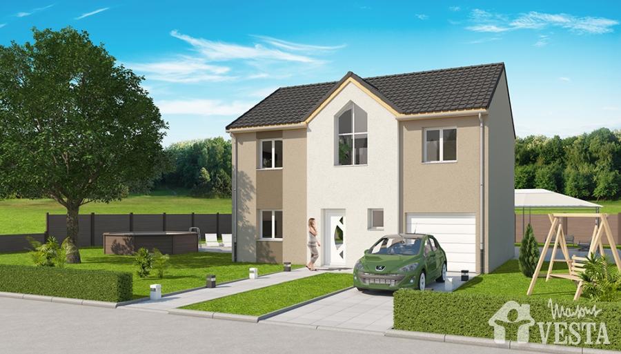 Modeles de maison a construire dune maison cubique moderne avec mezzanine donnant sur salle de - Modele de maison a construire ...