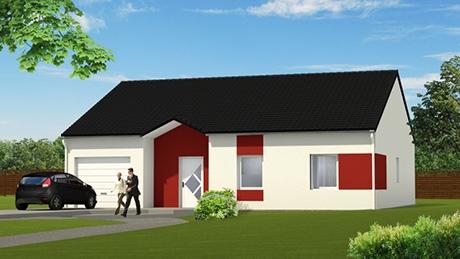 Construisez votre maison fleury 57420 avec maisons vesta - Exemple de facade de maison ...